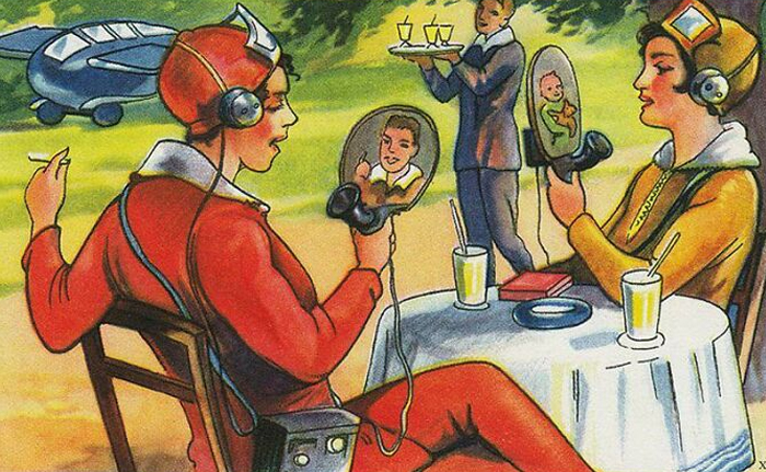 Будущее, глазами людей в 1930-х. Видео-звонки