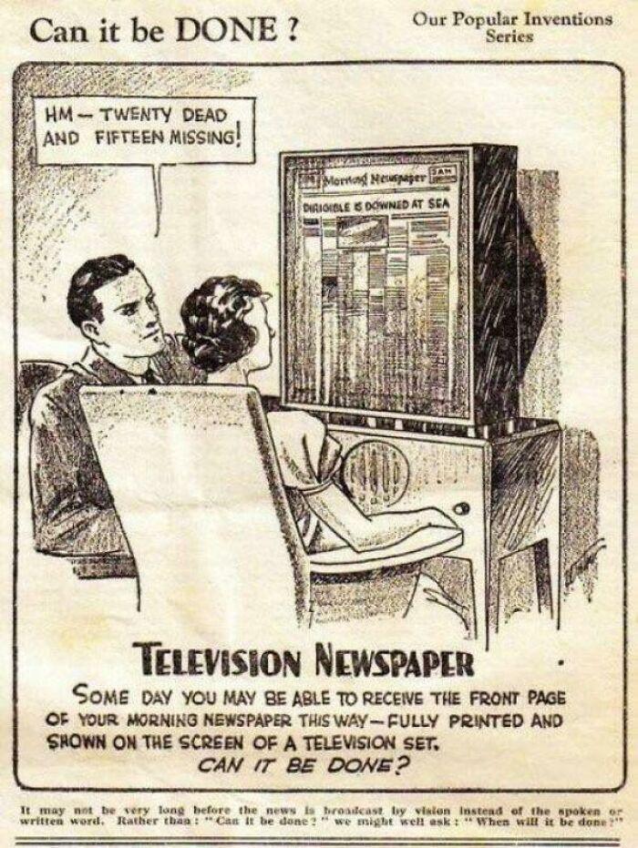 """В 1940-х предсказали интернет. """"Теле-газета"""""""