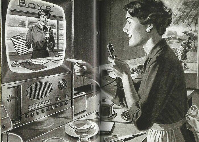 Телемагазин / Интернет-магазин в представлении 1950-х