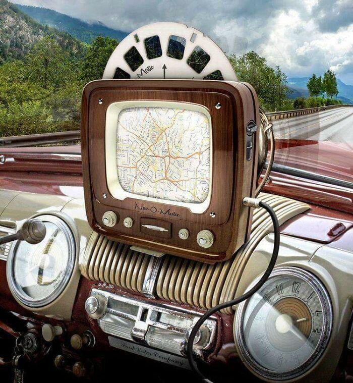 Навигационная система в машине, разработанная в 1950-х