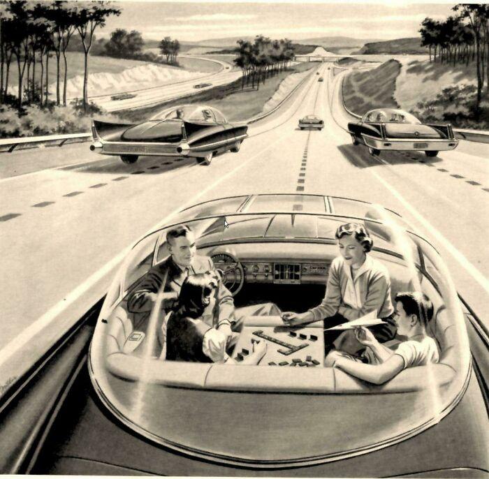 Машина на автопилоте должна была появиться еще раньше, так думали в 1960-м