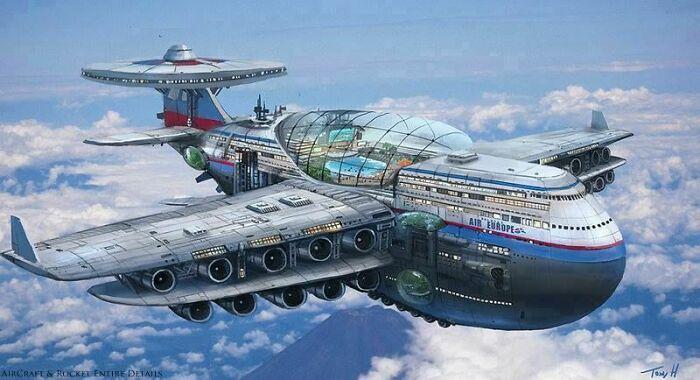 Если есть морские круизы на лайнерах, должны быть и авиа-круизы, так решили в 1970-х