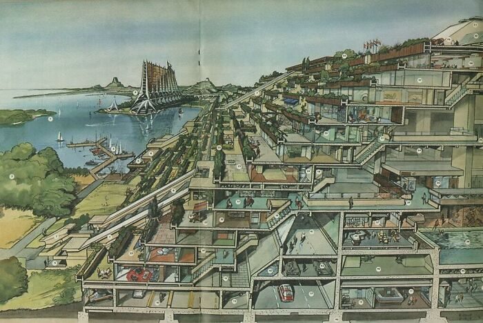 В 1970-х тоже разрабатывали компактные эко-города