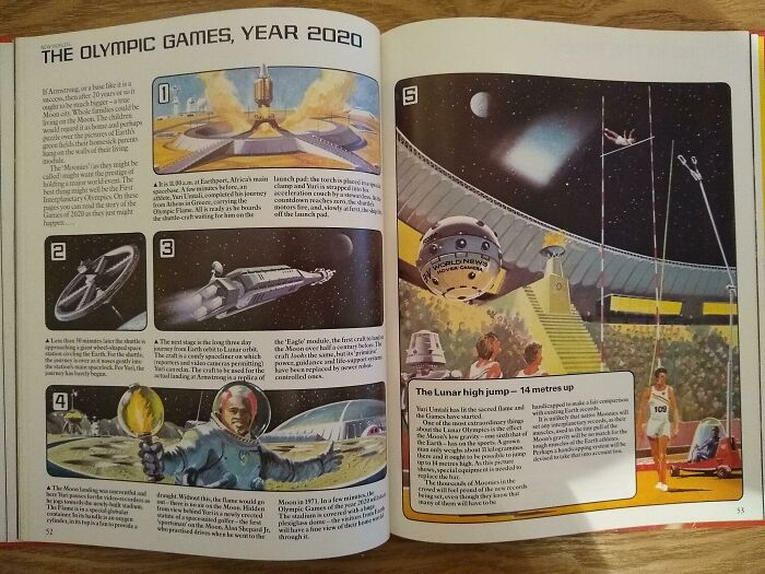 """Олимпийские игры на Луне. Вот где точно будет """"быстрее-выше-сильнее!"""" Журнал 1980-х"""