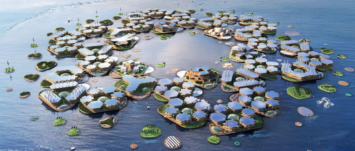 Плавучий город на зеленых технологиях